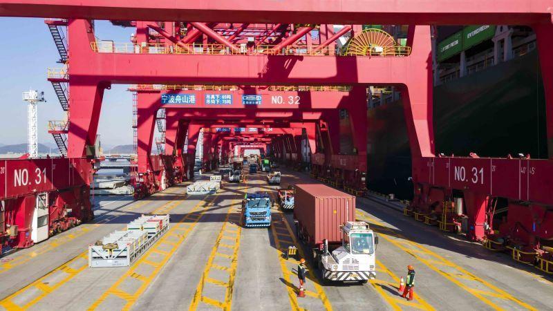 """集装箱吞吐量同比增25.1%!宁波舟山港一季度运输生产赢得""""开门红"""""""